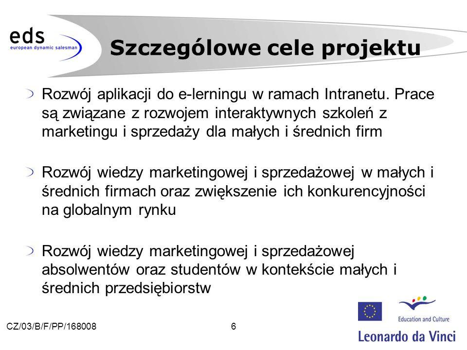 6CZ/03/B/F/PP/168008 Rozwój aplikacji do e-lerningu w ramach Intranetu.