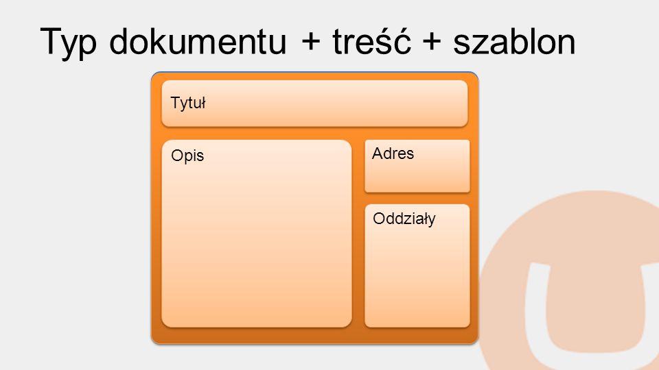 Typ dokumentu + treść + szablon O nas Firma Contonso jest światowym liderem w produkcji oprogramowania, świadczenia usług informatycznych.