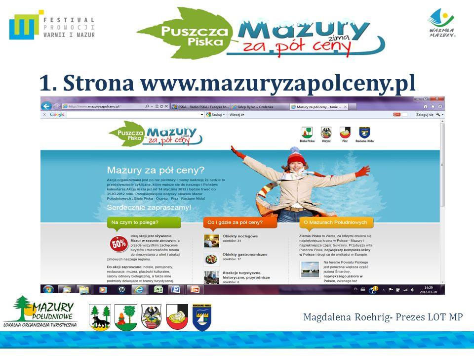 1. Strona www.mazuryzapolceny.pl Magdalena Roehrig- Prezes LOT MP