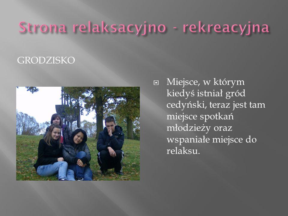 GRODZISKO Miejsce, w którym kiedyś istniał gród cedyński, teraz jest tam miejsce spotkań młodzieży oraz wspaniałe miejsce do relaksu.