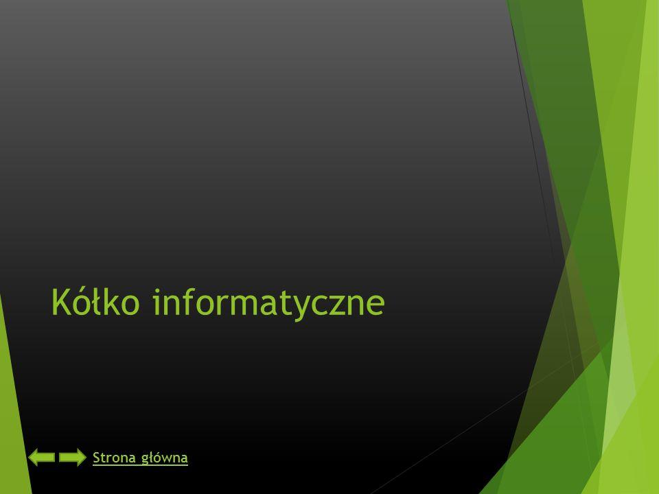 Kółko informatyczne Strona główna