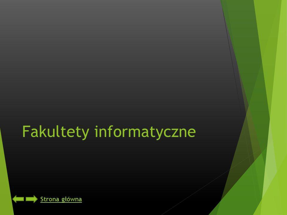 Fakultety informatyczne Strona główna