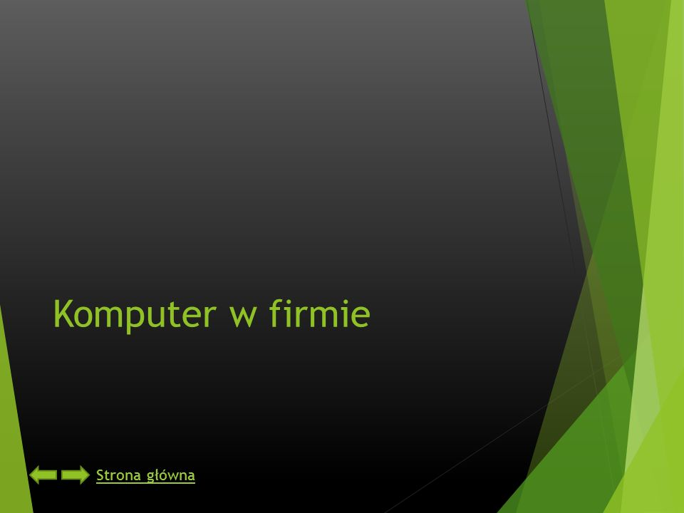 Komputer w firmie Strona główna