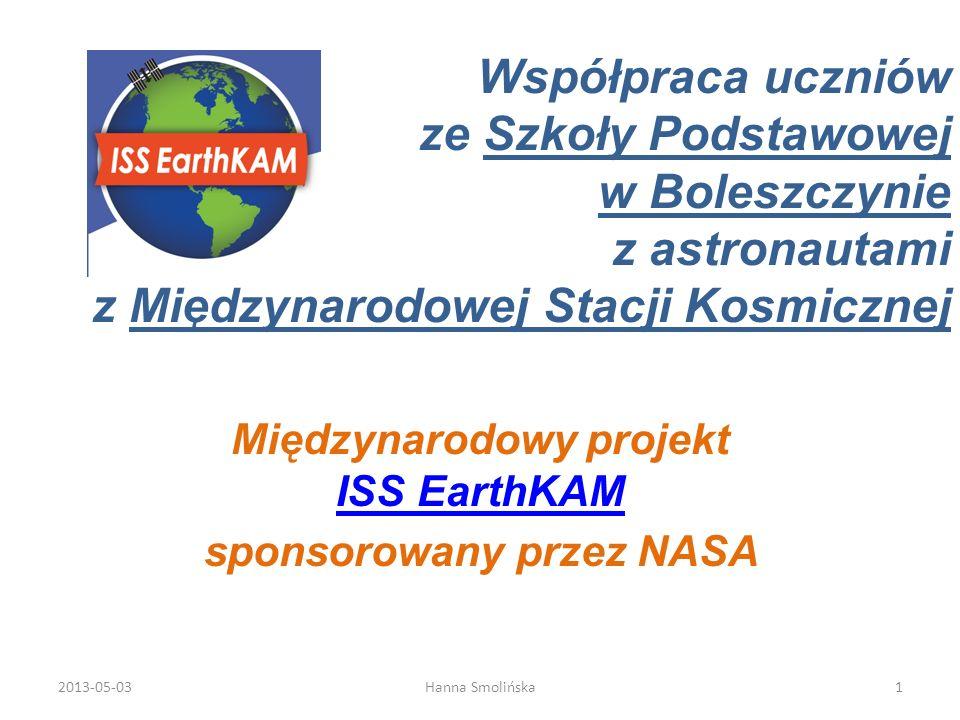 Współpraca uczniów ze Szkoły Podstawowej w Boleszczynie z astronautami z Międzynarodowej Stacji Kosmicznej Międzynarodowy projekt ISS EarthKAM ISS Ear