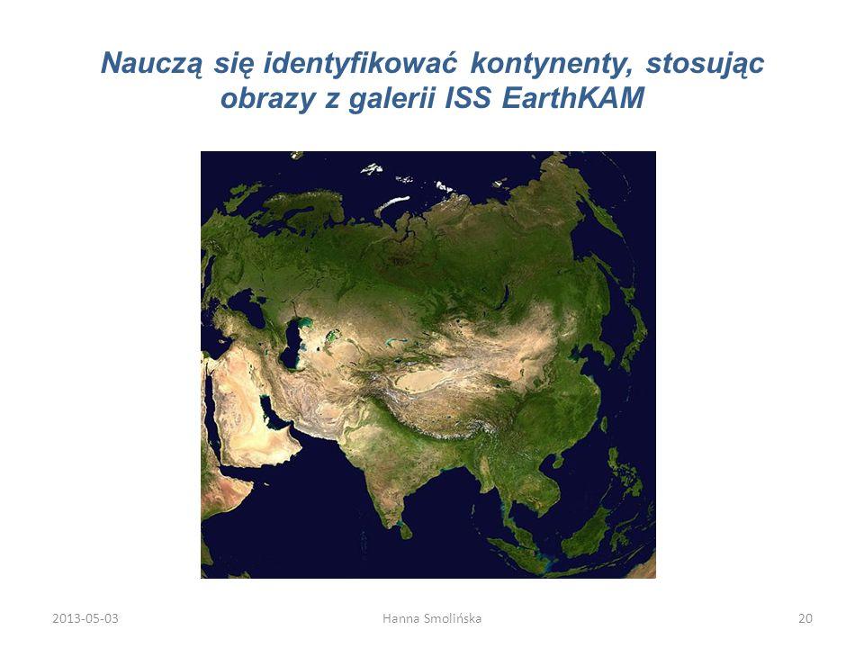 Nauczą się identyfikować kontynenty, stosując obrazy z galerii ISS EarthKAM 2013-05-0320Hanna Smolińska