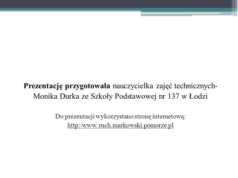 Prezentację przygotowała nauczycielka zajęć technicznych- Monika Durka ze Szkoły Podstawowej nr 137 w Łodzi Do prezentacji wykorzystano stronę interne
