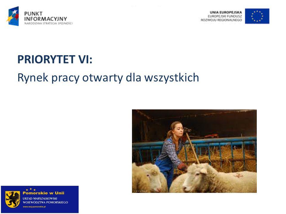 PRIORYTET VI: Rynek pracy otwarty dla wszystkich