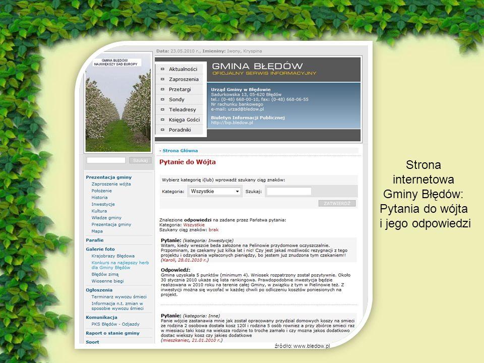 - Czy w naszej gminie można zauważyć jakieś ruchy ekologiczne.