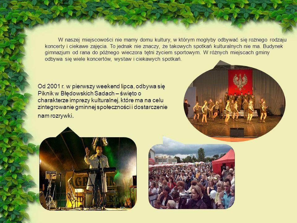 W naszej miejscowości nie mamy domu kultury, w którym mogłyby odbywać się rożnego rodzaju koncerty i ciekawe zajęcia.