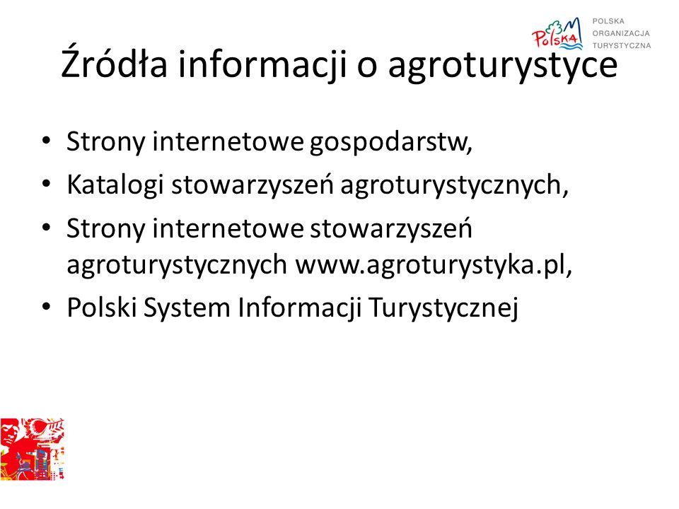 Strony internetowe gospodarstw, Katalogi stowarzyszeń agroturystycznych, Strony internetowe stowarzyszeń agroturystycznych www.agroturystyka.pl, Polsk