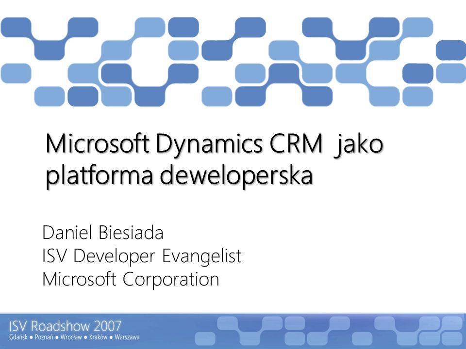 Agenda Microsoft Dynamics CRM Oferta dla Producentów Oprogramowania Dlaczego Microsoft Dynamics CRM.