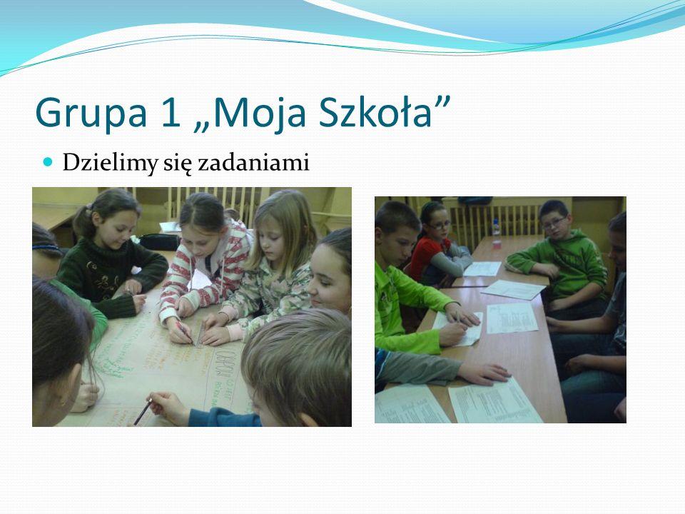 Grupa 1 Moja Szkoła Dzielimy się zadaniami