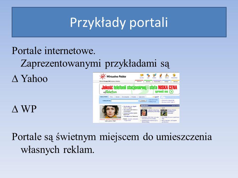 Portale internetowe.
