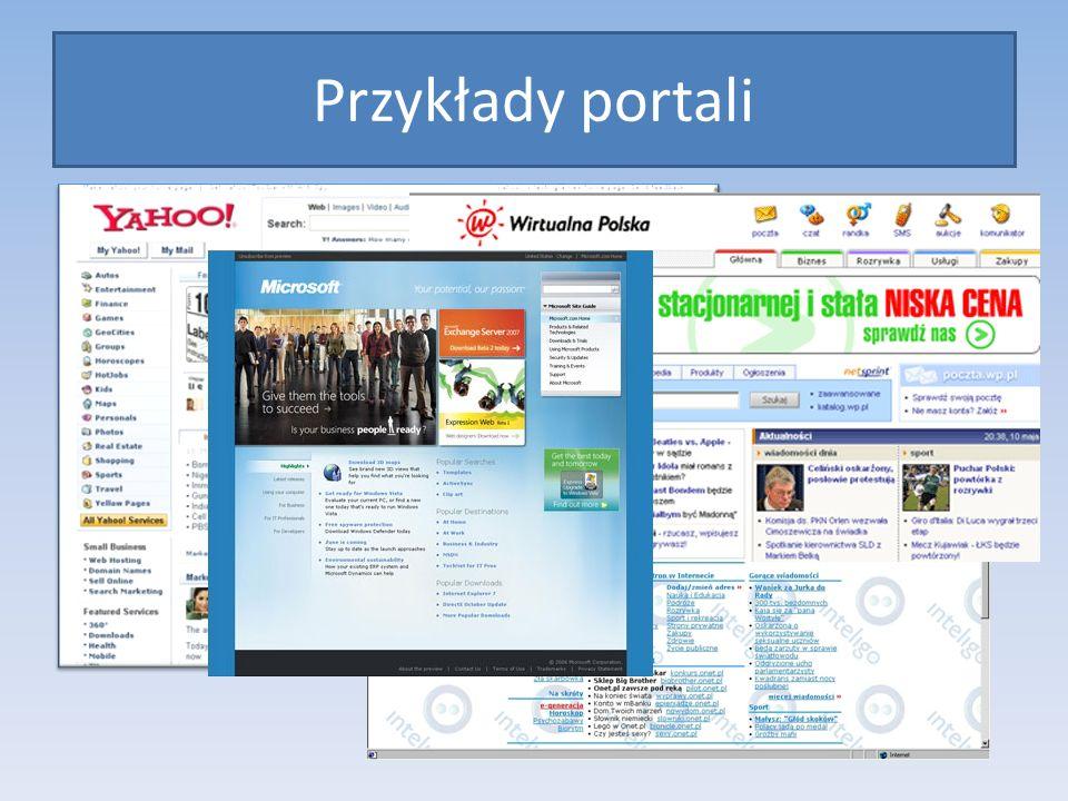 Wortal firmowy Oficjalna strona firmy Microsoft posłuży nam do prezentacji wortalu firmowego.