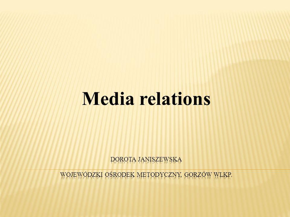 Media relations - współpraca z mediami (radio, prasa, telewizja) 2