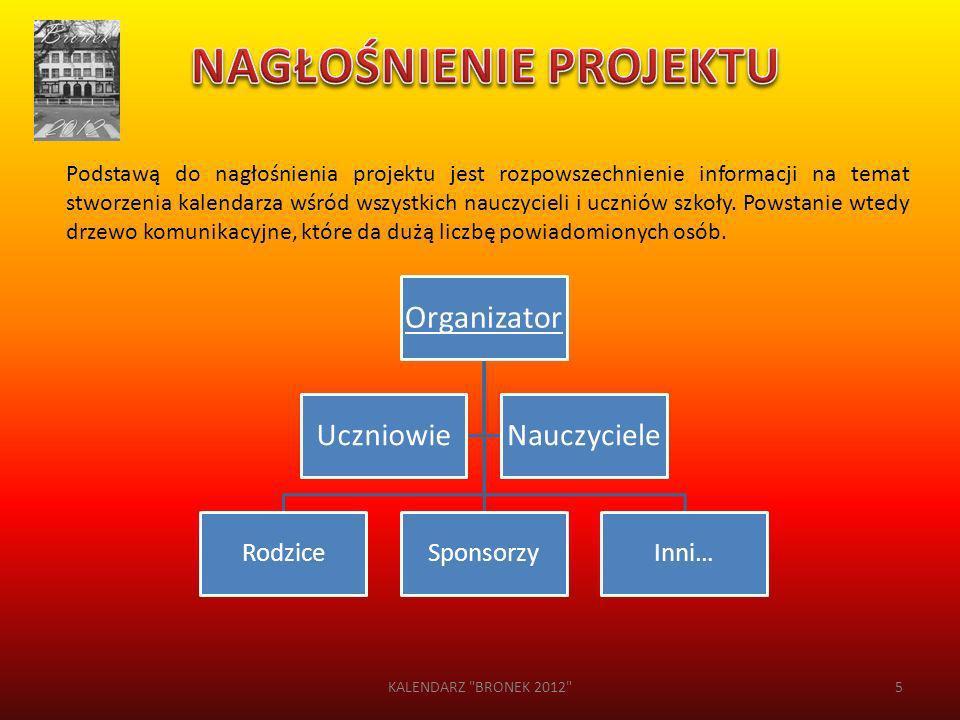 Podstawą do nagłośnienia projektu jest rozpowszechnienie informacji na temat stworzenia kalendarza wśród wszystkich nauczycieli i uczniów szkoły. Pows