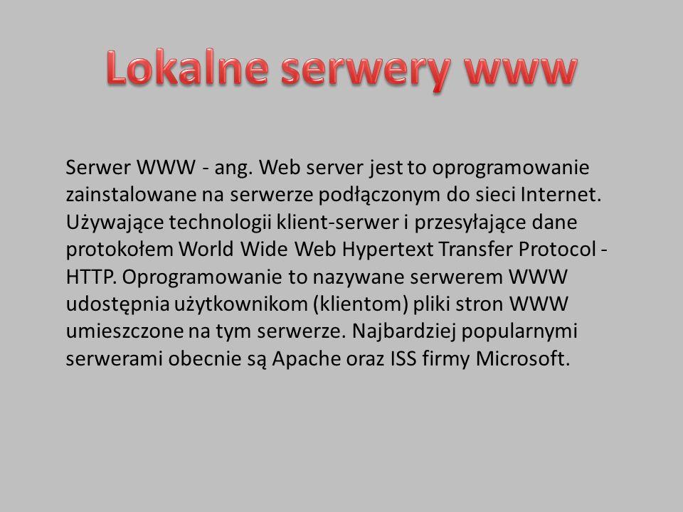 Serwer WWW - ang.