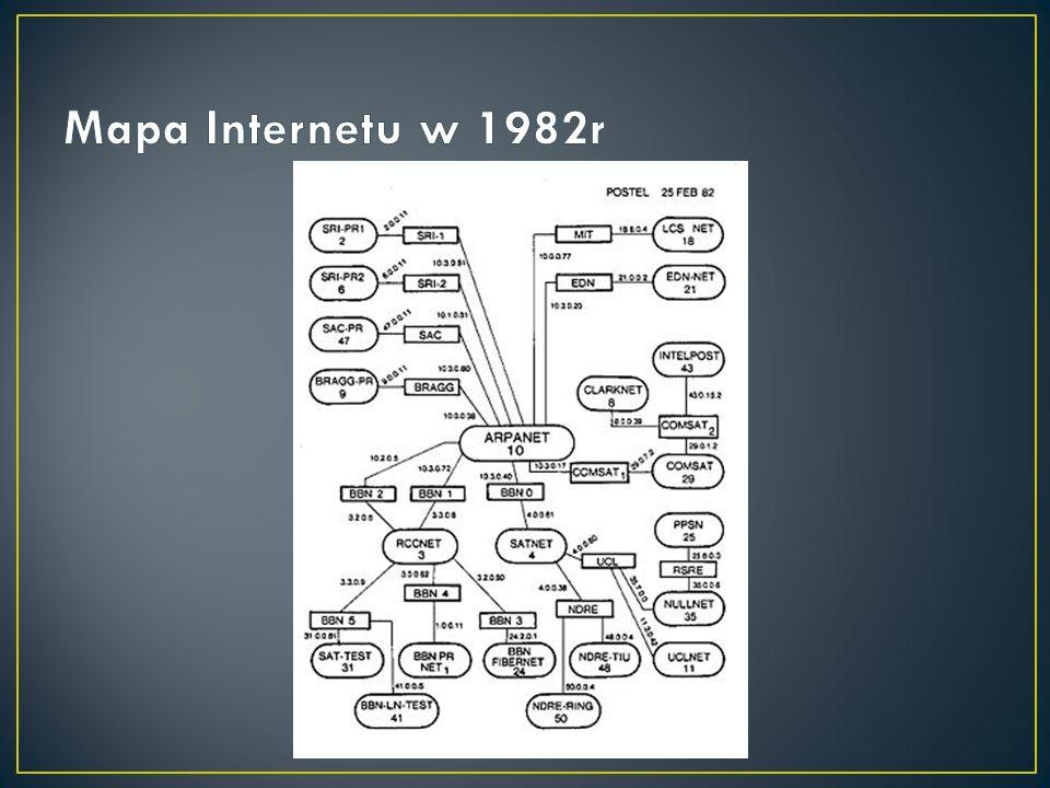 ARPANET Historia Internetu zaczyna się 29 września 1969 roku, kiedy to w Uniwersytecie Kalifornijskim w Los Angeles (UCLA), a wkrótce potem w trzech następnych uniwersytetach zainstalowano w ramach eksperymentu finansowanego przez ARPA (Advanced Research Project Agency), zajmującą się koordynowaniem badań naukowych na potrzeby wojska, pierwsze węzły sieci ARPANET