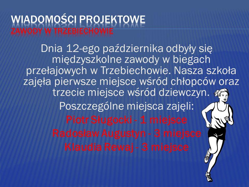 Dnia 12-ego października odbyły się międzyszkolne zawody w biegach przełajowych w Trzebiechowie. Nasza szkoła zajęła pierwsze miejsce wśród chłopców o