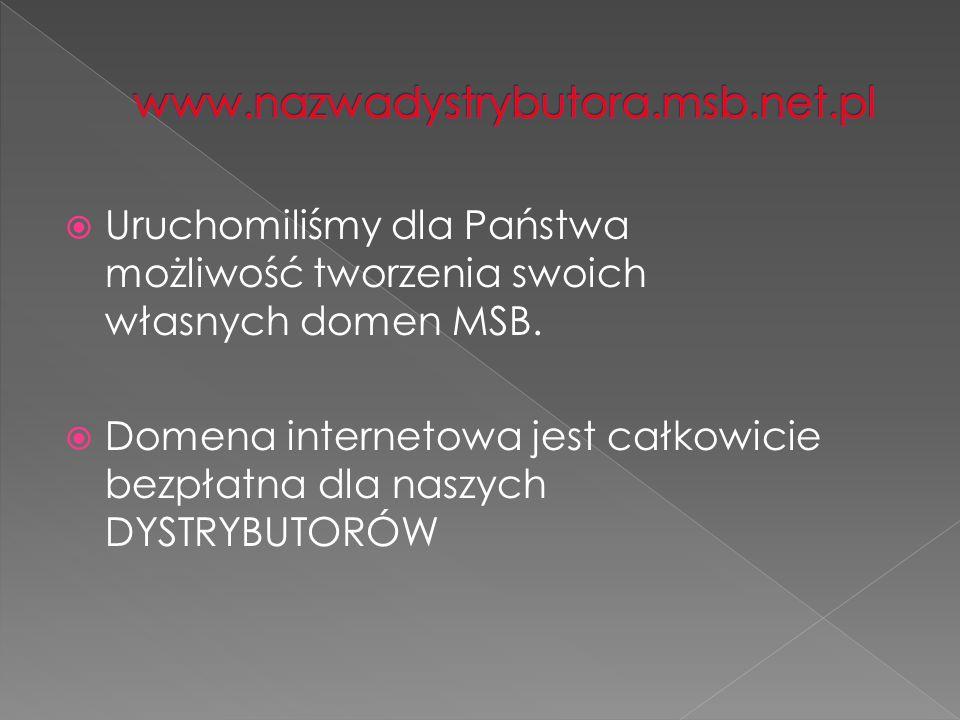 Uruchomiliśmy dla Państwa możliwość tworzenia swoich własnych domen MSB.