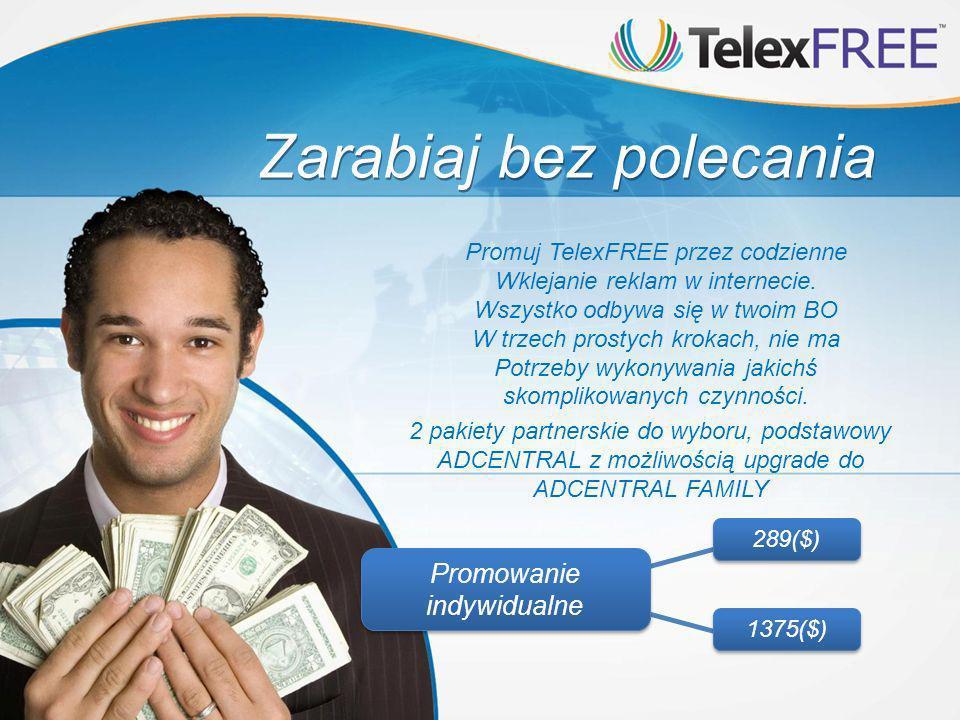 Zarabiaj bez polecania Promuj TelexFREE przez codzienne Wklejanie reklam w internecie.