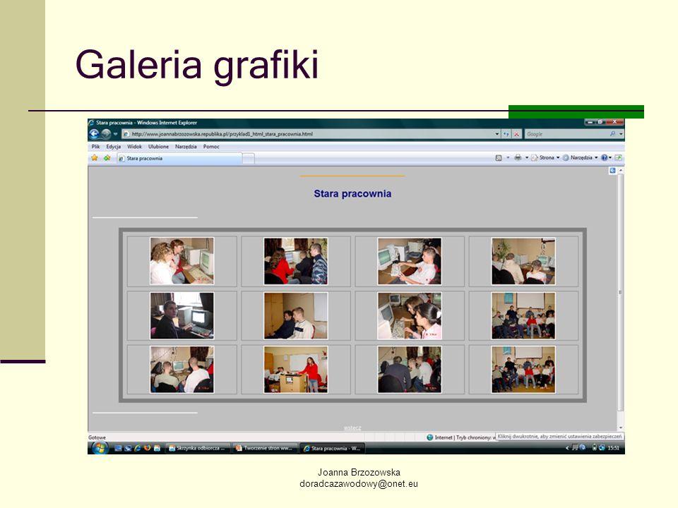 Joanna Brzozowska doradcazawodowy@onet.eu Galeria grafiki