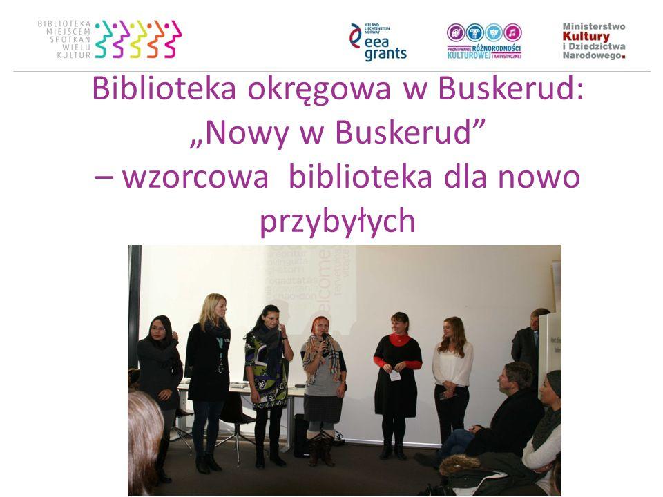 Biblioteka okręgowa w Buskerud: Nowy w Buskerud – wzorcowa biblioteka dla nowo przybyłych
