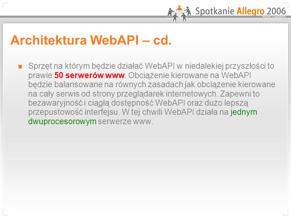 Architektura WebAPI – cd.