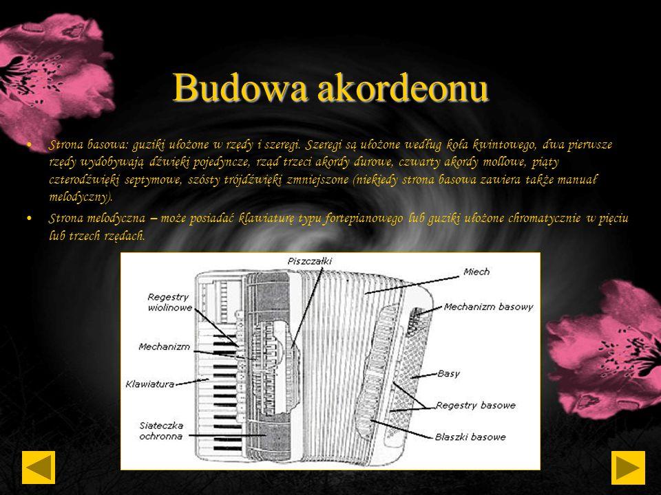 Historia akordeonu W wielu konstrukcjach nie udało się natomiast jeszcze pokonać zbyt dużego ciężaru instrumentu. Są to z reguły instrumenty drogie, c