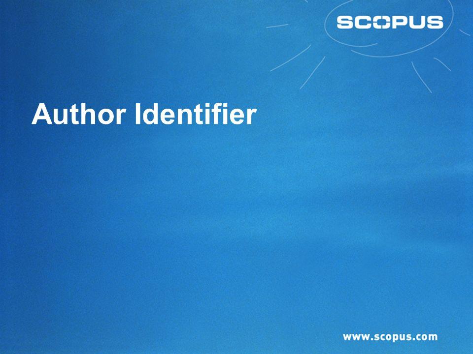 Author Identifier