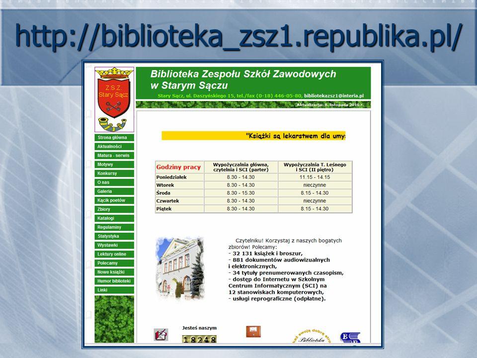 http://biblioteka_zsz1.republika.pl/