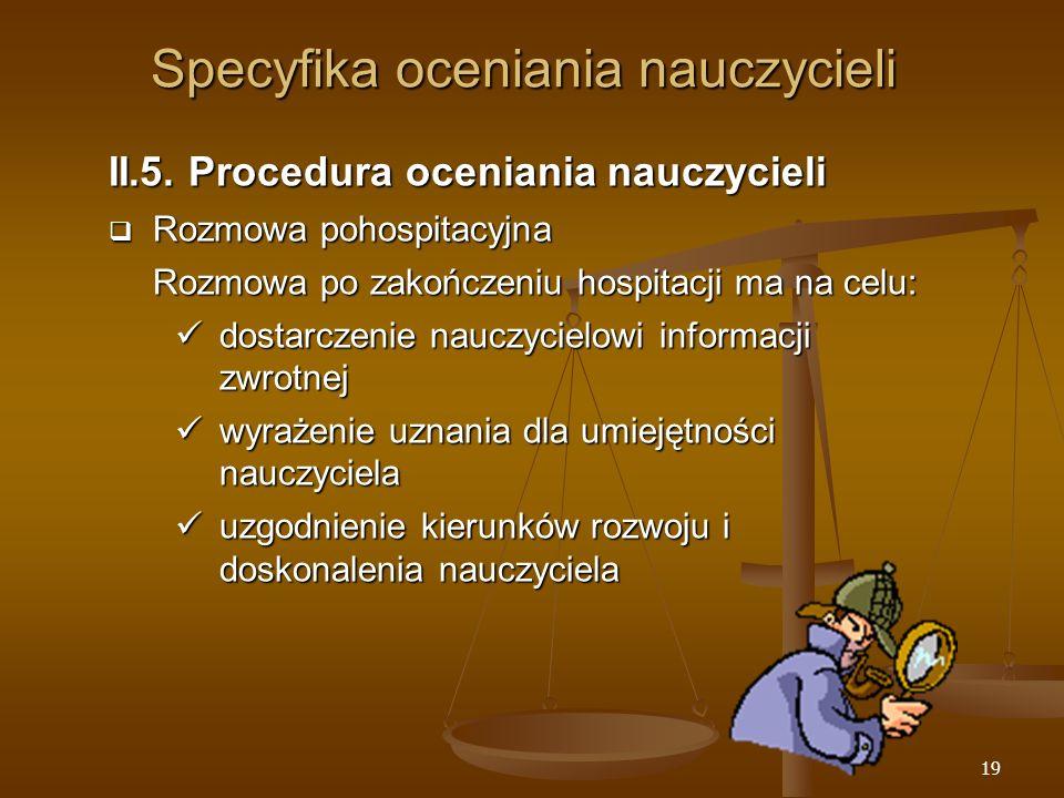 19 Specyfika oceniania nauczycieli II.5.
