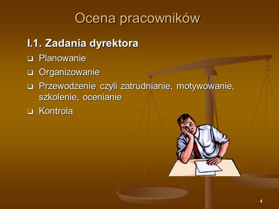 15 Specyfika oceniania nauczycieli II.3.