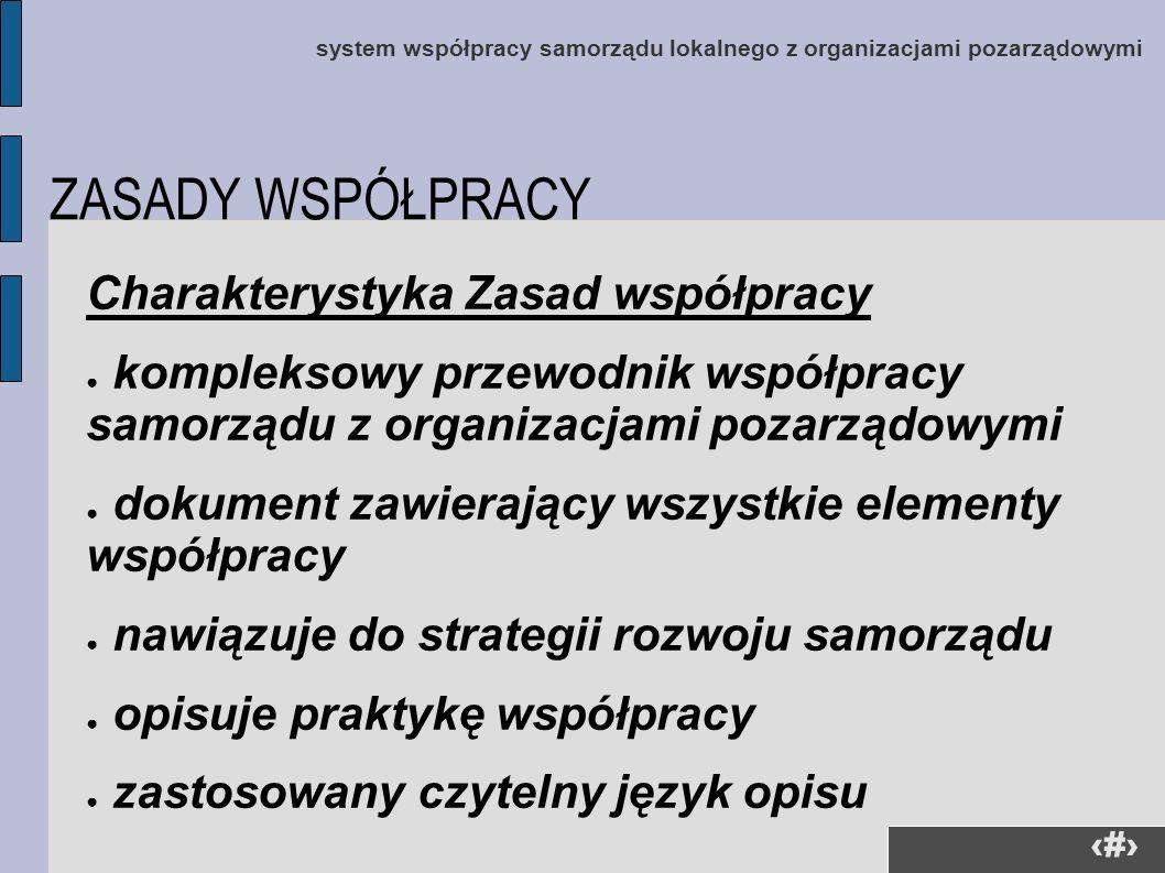 12 system współpracy samorządu lokalnego z organizacjami pozarządowymi Charakterystyka Zasad współpracy kompleksowy przewodnik współpracy samorządu z