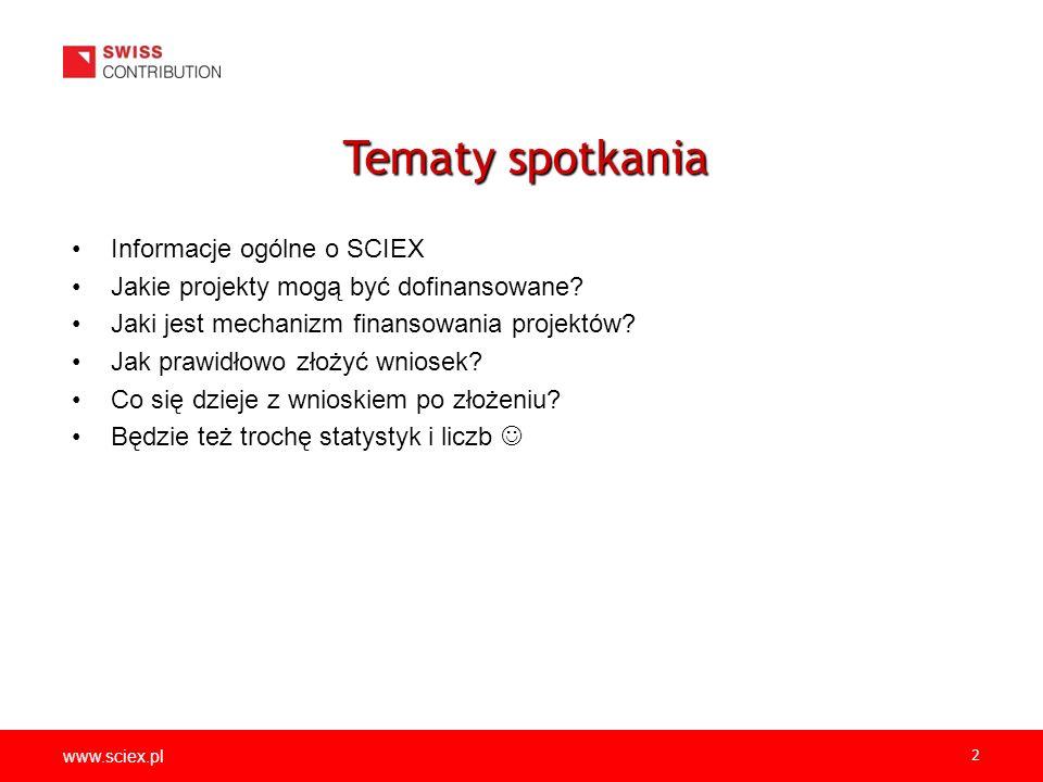 www.sciex.pl 2 Informacje ogólne o SCIEX Jakie projekty mogą być dofinansowane.