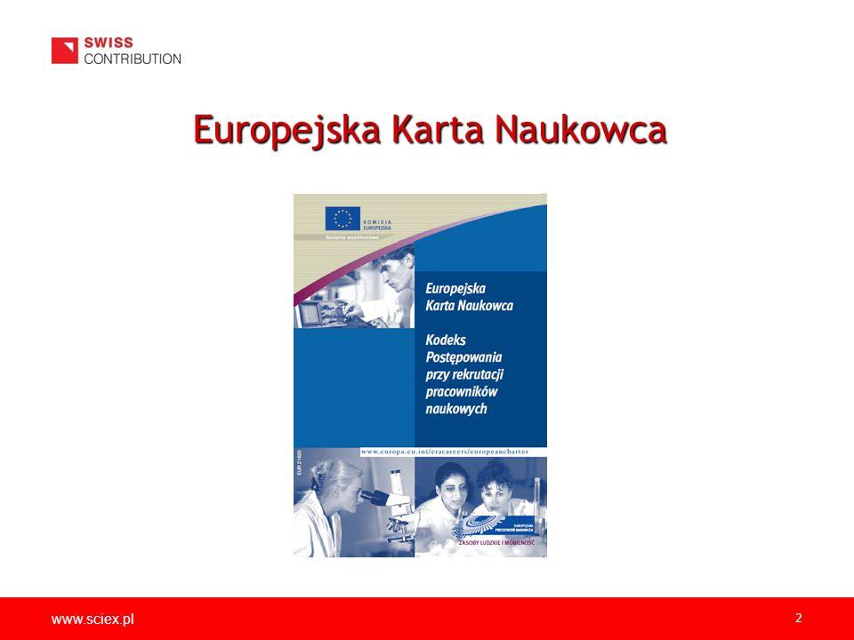 www.sciex.pl 2 Europejska Karta Naukowca