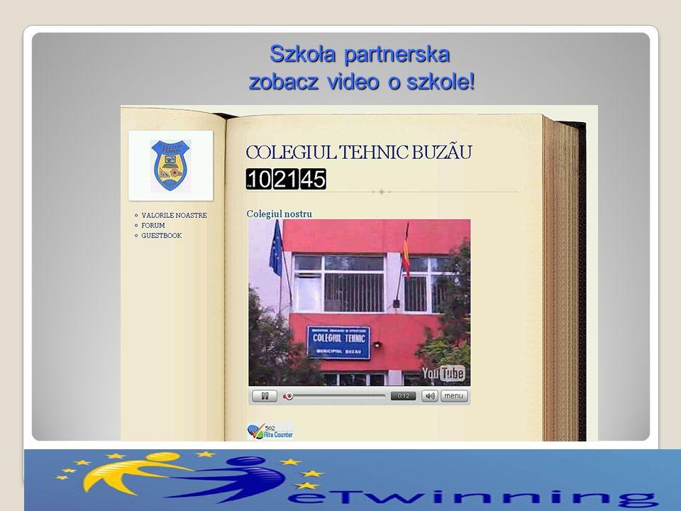 Szkoła partnerska zobacz video o szkole!