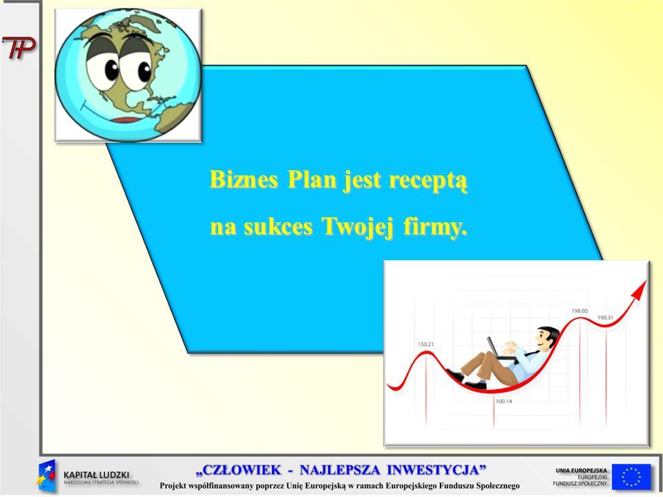 Biznes Plan jest receptą na sukces Twojej firmy.