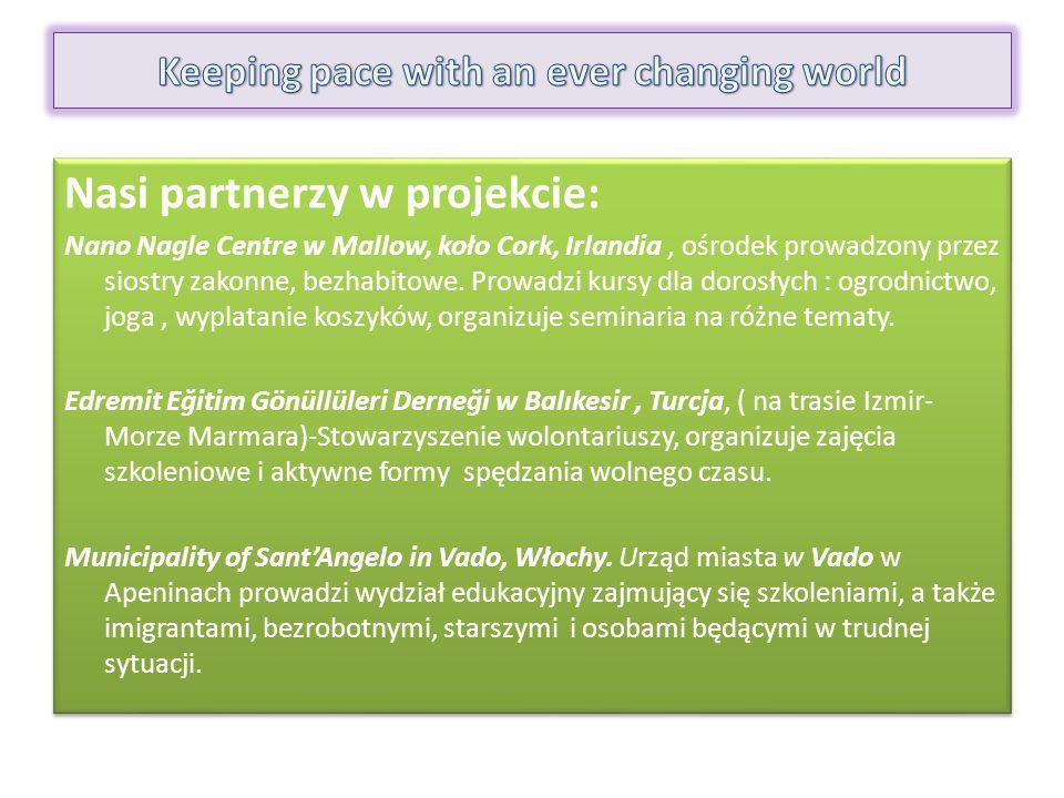 Nasi partnerzy w projekcie: Nano Nagle Centre w Mallow, koło Cork, Irlandia, ośrodek prowadzony przez siostry zakonne, bezhabitowe.