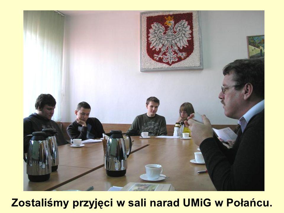 Zostaliśmy przyjęci w sali narad UMiG w Połańcu.