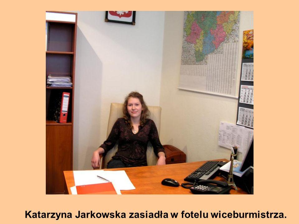 Katarzyna Jarkowska zasiadła w fotelu wiceburmistrza.
