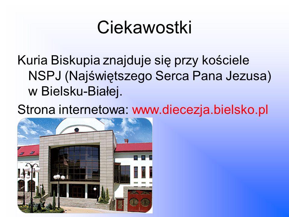 Ciekawostki Kuria Biskupia znajduje się przy kościele NSPJ (Najświętszego Serca Pana Jezusa) w Bielsku-Białej. Strona internetowa: www.diecezja.bielsk
