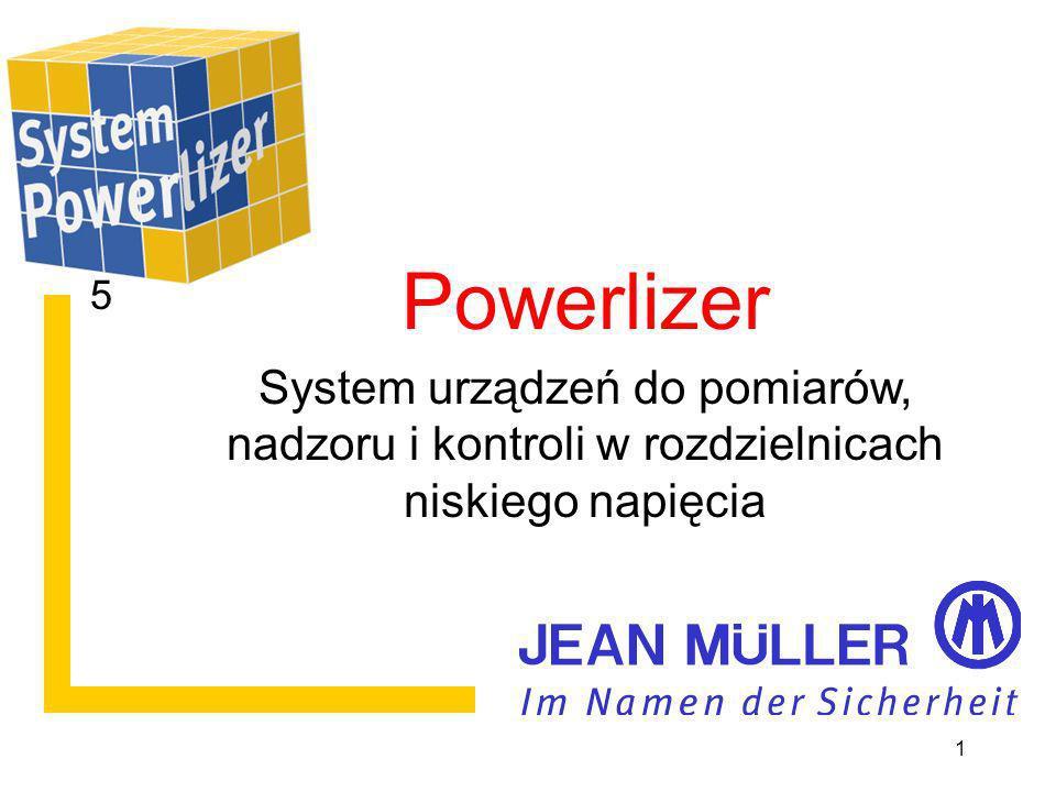 Überwachungs- Elektronik Powerlizer ein System zur Überwachung von Niederspannungs- Schaltanlagen Powerlizer System urządzeń do pomiarów, nadzoru i kontroli w rozdzielnicach niskiego napięcia 1 5