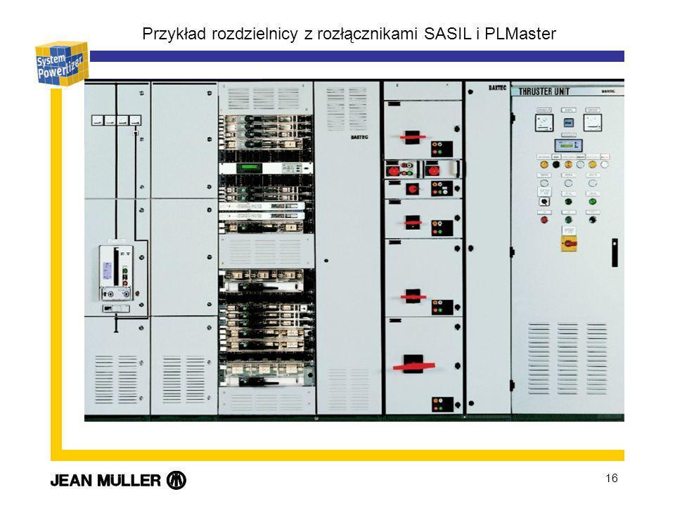 16 Przykład rozdzielnicy z rozłącznikami SASIL i PLMaster