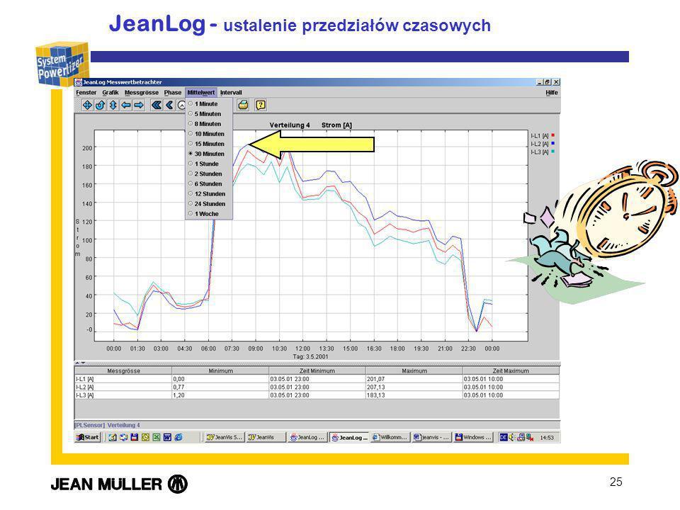 25 JeanLog - ustalenie przedziałów czasowych