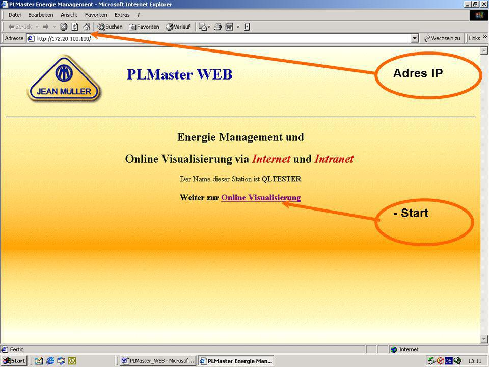 39 Visualisierung Online - Start Adres IP