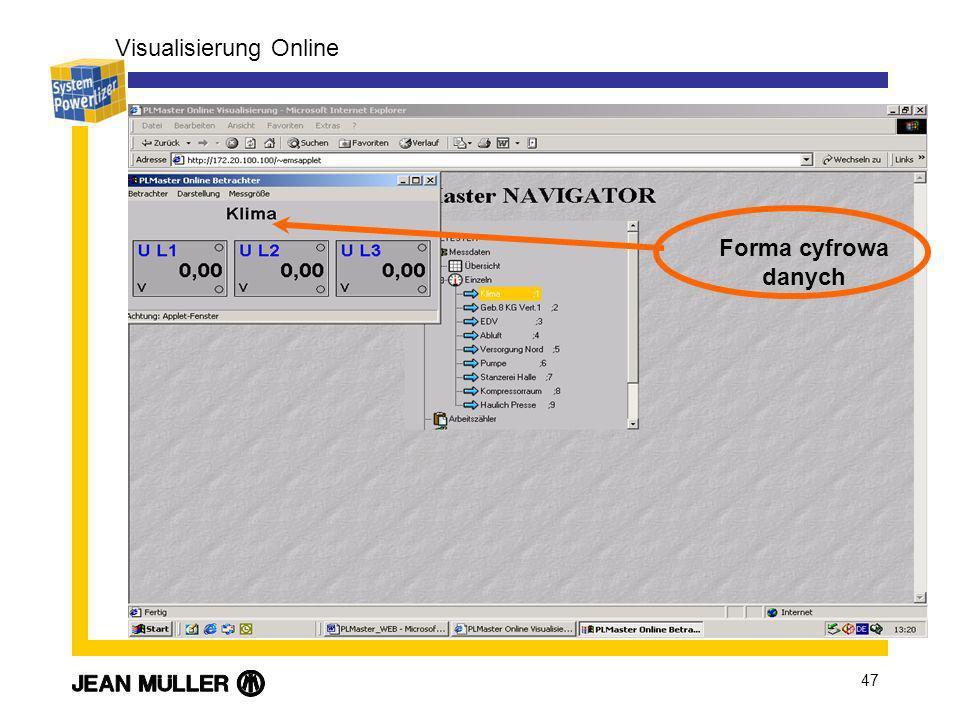 47 Visualisierung Online Forma cyfrowa danych