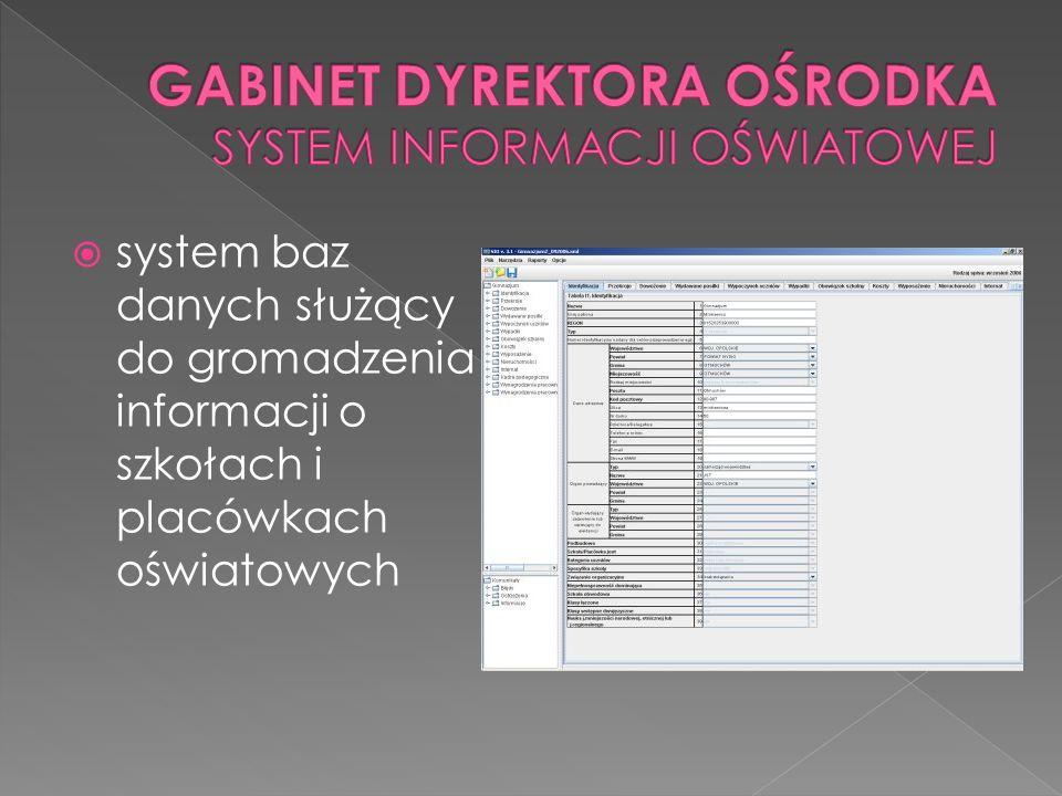 system baz danych służący do gromadzenia informacji o szkołach i placówkach oświatowych
