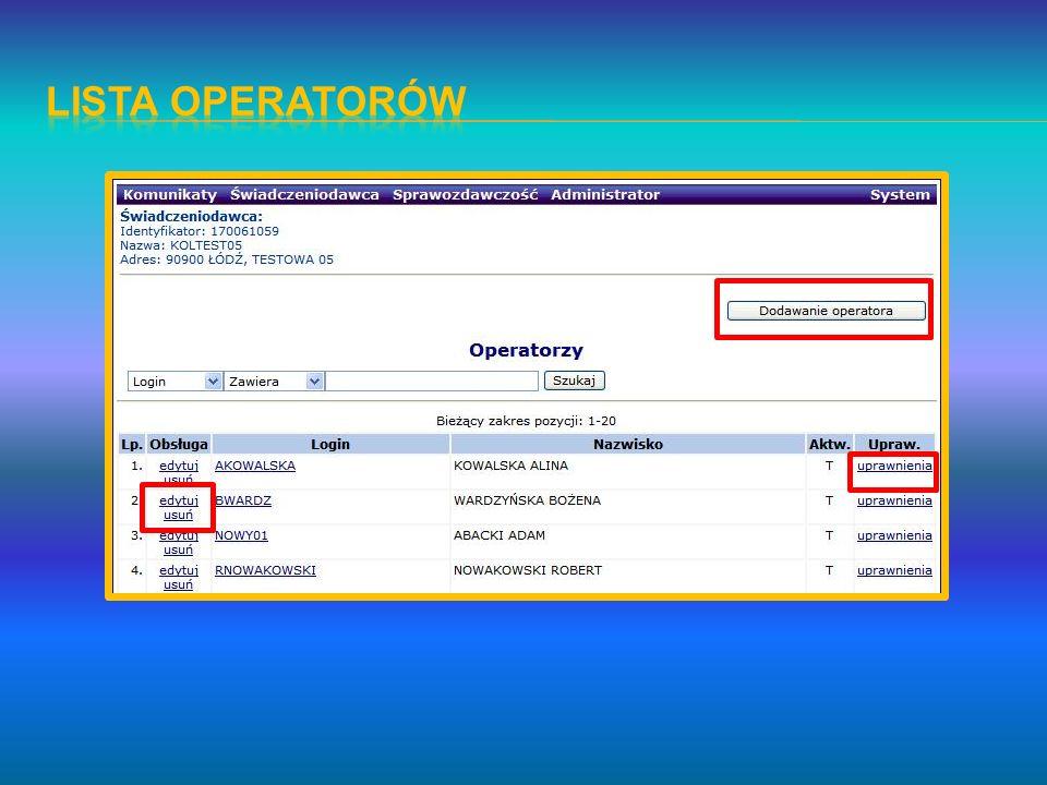 Pacjent a o danym numerze PESEL można wprowadzić tylko jeden raz, bez względu na różnice w pozostałych danych osobowych i adresowych lub