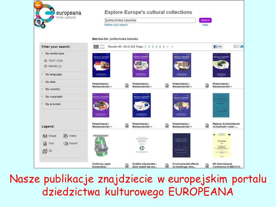 Nasze publikacje znajdziecie w europejskim portalu dziedzictwa kulturowego EUROPEANA